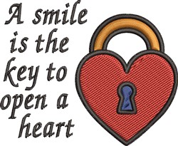 Smile Is Key embroidery design