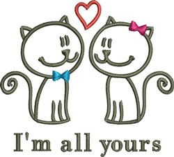 Im All Yours embroidery design
