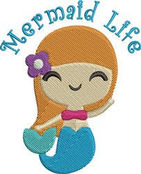 Mermaid Life embroidery design