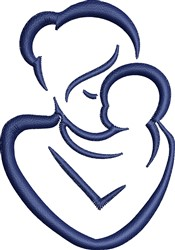 Mother And Baby embroidery design