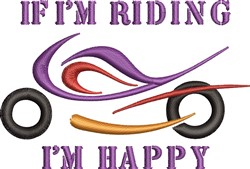 Riding Happy embroidery design