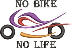 No Bike embroidery design