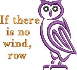 No Wind embroidery design