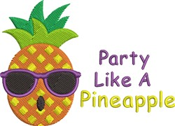 Pineapple Party embroidery design