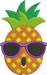 Sunglasses Pineapple embroidery design