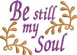 Be Still My Soul embroidery design