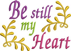 Be Still My Heart embroidery design