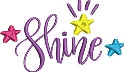 Shine embroidery design
