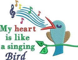 Singing Bird embroidery design