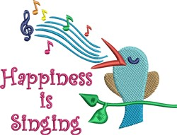 Happiness Is Singing embroidery design