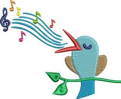 Bird Singing embroidery design