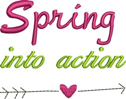 Spring Into Action embroidery design