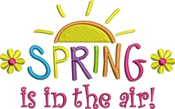 Spring In Air embroidery design