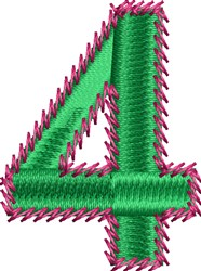 Stemstitch Number 4 embroidery design