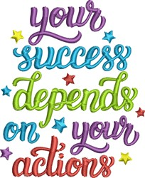 Your Success embroidery design