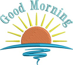 Good Morning embroidery design