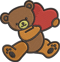 Love Teddy Bear embroidery design