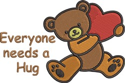 Need A Hug embroidery design