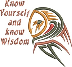 Know Yourself embroidery design