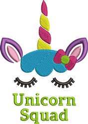 Unicorn Squuad embroidery design
