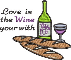 Wine Your With embroidery design