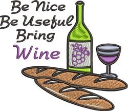 Bring Wine embroidery design