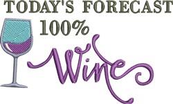 100% Wine embroidery design
