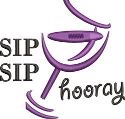 Sip Sip Hooray embroidery design