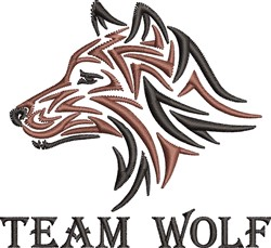 Team Wolf embroidery design