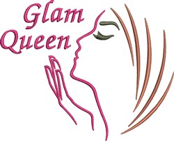 Glam Queen embroidery design