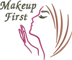 Makeup First embroidery design