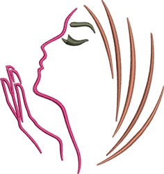 Woman Profile embroidery design
