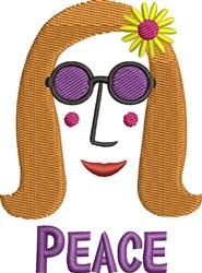 Peace Lady embroidery design