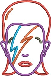 Bowie Small embroidery design