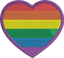 LGBT Heart Small embroidery design