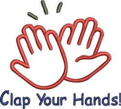 Clap Your Hands embroidery design