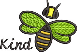 Kind Bee embroidery design