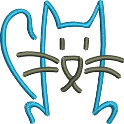 Blue Cat embroidery design