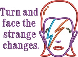 Bowie Turn And Face embroidery design