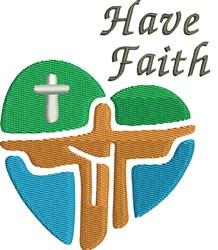 Have Faith Christ Heart embroidery design