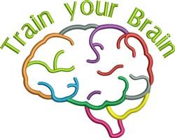 Colorful Brain Medium 2 embroidery design