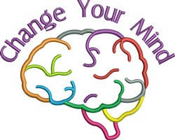 Change Your Mind embroidery design
