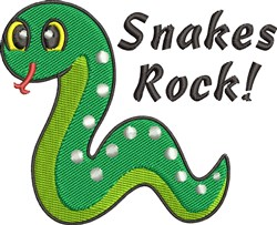 Snakes Rock embroidery design
