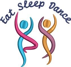 Eat Sleep Dance embroidery design