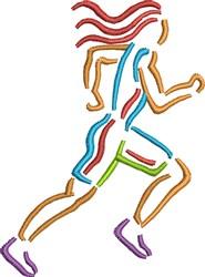 Female Runner embroidery design
