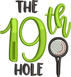 The 19th Hole Golf embroidery design