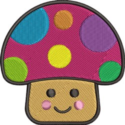 Happy Mushroom embroidery design