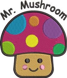 Mr. Mushroom embroidery design