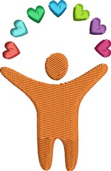 Heart Person embroidery design