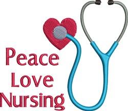 Peace Love Nursing embroidery design